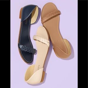 NWOT Talbots Lulu Braided Strap Sandals